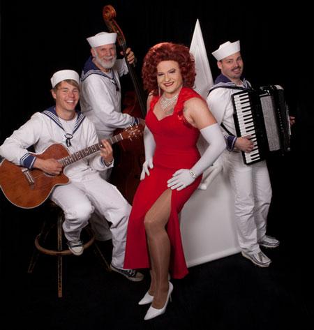 Miss Gloria Vain mit der Band
